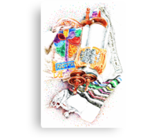 Closed Torah with Colorful Cover Canvas Print