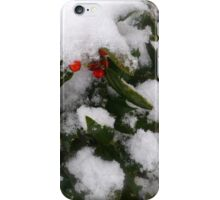 Snow Cover Holly iPhone Case/Skin