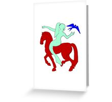 Gaia Says...A Horse Needs A Fish! Greeting Card