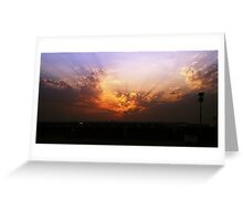 Kuwait at sunset Greeting Card
