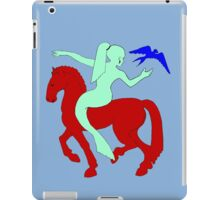 Gaia Says...A Horse Needs A Fish! iPad Case/Skin