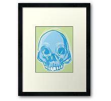 Single Blue Skull Framed Print