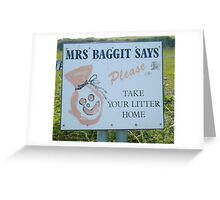 Mrs Baggit says Greeting Card
