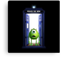 Tardis Monster inc Canvas Print