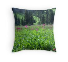 Meadow Wildflowers Throw Pillow