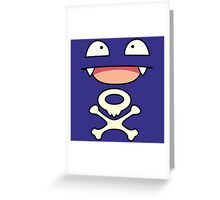 Koffing face Greeting Card