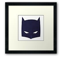 Batman Cowl!  Framed Print