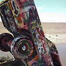 Cadillac Ranch Spray Art by Paul Butler