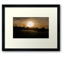 Low Light Framed Print