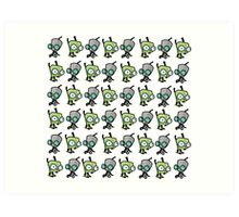 Checkered Gir pattern Art Print