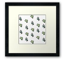 Checkered Gir pattern [Diagonal] Framed Print