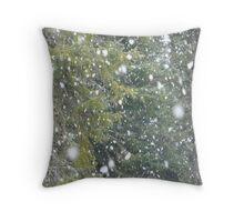 Snowflakes Falling Throw Pillow