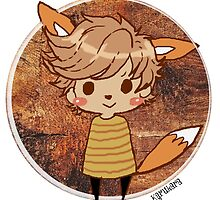 Button Louis - Fox by karukara