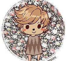 Button Louis - Hedgehog by karukara