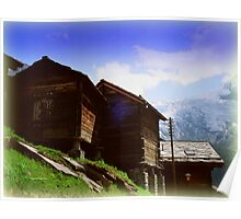 Mountain Huts Poster