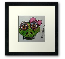 reptile cute Framed Print