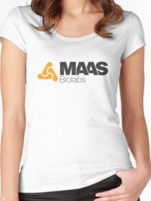 MAAS Biolabs Corporate Logo TShirt White Women's Fitted Scoop T-Shirt
