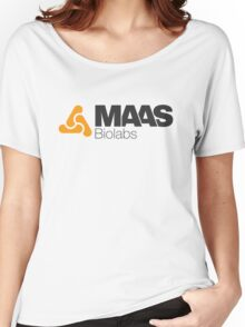 MAAS Biolabs Corporate Logo TShirt White Women's Relaxed Fit T-Shirt