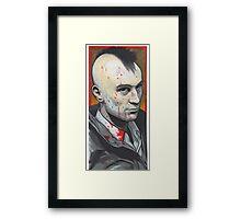travis bickle portrait. Framed Print
