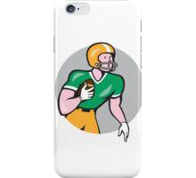 American Football Player Rusher Circle Retro iPhone Case/Skin