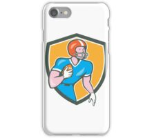 American Football Player Rusher Shield Retro iPhone Case/Skin