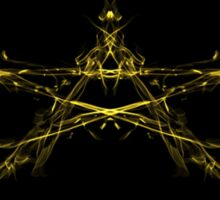Golden Star Blast Sticker