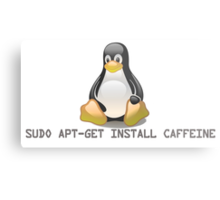 Linux - Get Install Caffeine Metal Print