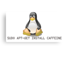 Linux - Get Install Caffeine Canvas Print