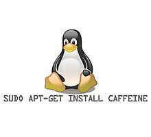 Linux - Get Install Caffeine Photographic Print