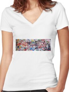 Marathon (2015) Women's Fitted V-Neck T-Shirt