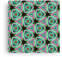 Psychedelic Neon Pillow cover/Tote Bag design. Canvas Print