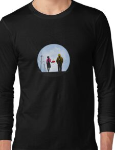 Pac Man and Ghost Long Sleeve T-Shirt
