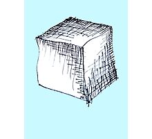 Freehand cube sketch  Photographic Print