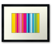 Bright stripes with stars Framed Print