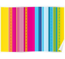 Bright stripes with stars Poster