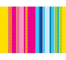 Bright stripes with stars Photographic Print
