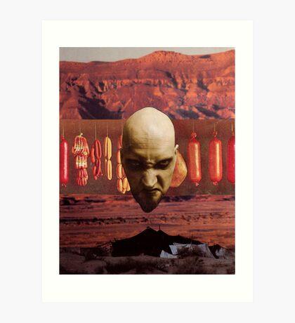M Blackwell - Angry God of Desert Smallgoods... Art Print