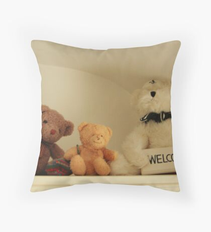 3 TEDS Throw Pillow