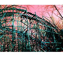 Abandoned Roller Coaster Photographic Print