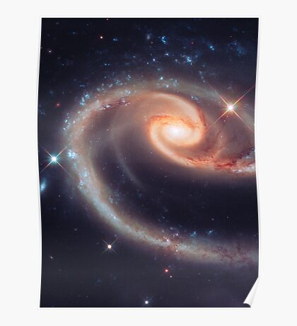 Spiral Galaxy   The Universe by Sir Douglas Fresh Poster