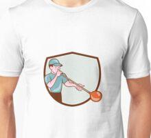 Glassblower Glassblowing Cartoon Shield Unisex T-Shirt
