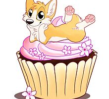 Corgi on a Cupcake by sepia-paws