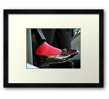 Sammy Davis Shoe Framed Print
