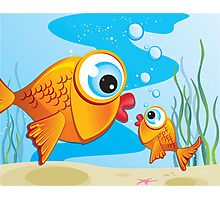 Critterz - Fish - Olive & Pickles Photographic Print