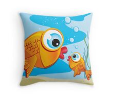Critterz - Fish - Olive & Pickles Throw Pillow