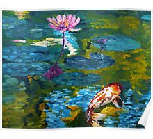 Tranquil Koi Lily Pond Poster