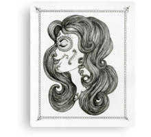 Sugar Skull Sweetheart II Metal Print