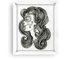Sugar Skull Sweetheart II Canvas Print