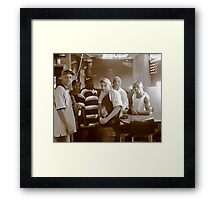 Cousins and Brothers in a BaR Framed Print