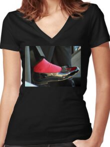 Sammy Davis Shoe Women's Fitted V-Neck T-Shirt